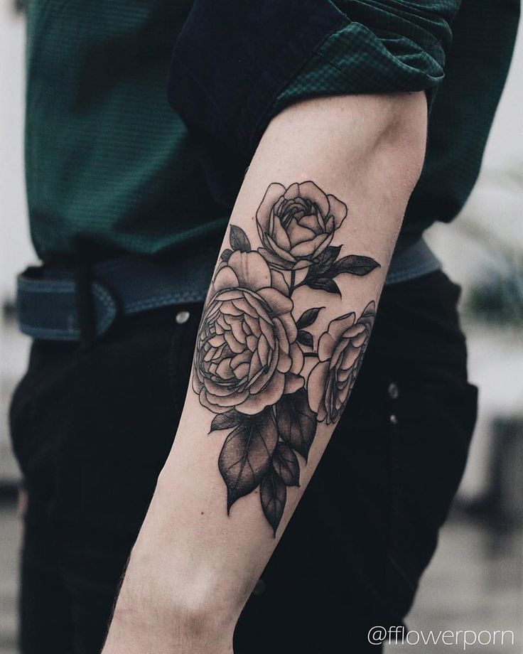 25+ Best Ideas About Men Flower Tattoo On Pinterest