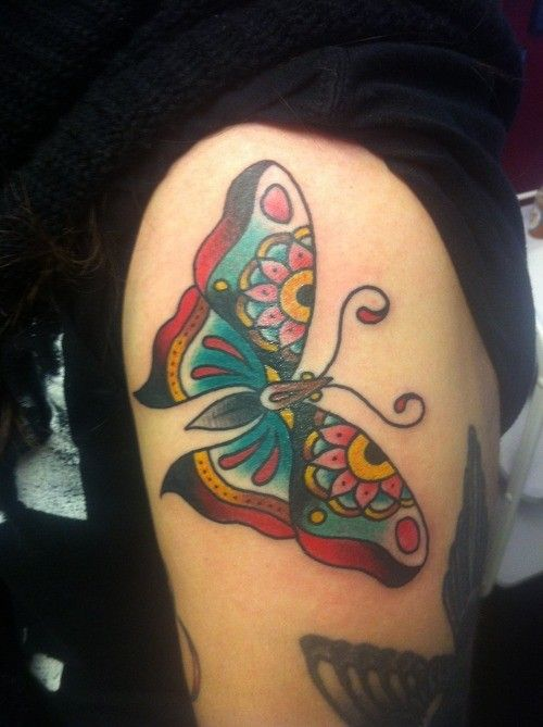 17 best ideas about traditional butterfly tattoo on pinterest traditional moth tattoo. Black Bedroom Furniture Sets. Home Design Ideas