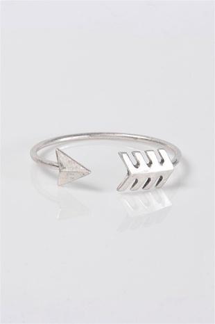 Bow And Arrow Bangle - Silver