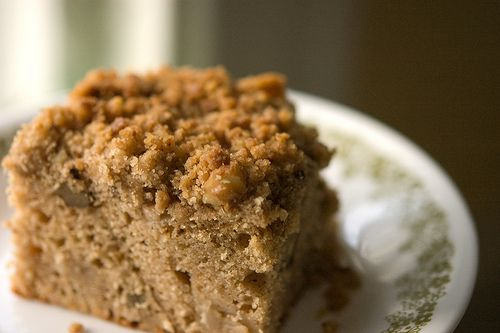 You Pinspire Me: Apple Coffe Cake With Crumble Topping and Brown Sugar Glaze