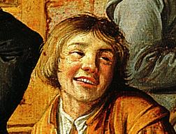 Jan Miense  Molenaer, Gezelschap voor herberg De Kroon, 1630, Frans Hals Museum, Haarlem #franshals #franshalsmuseum #art #kunst #exhibition #haarlem #molenaer