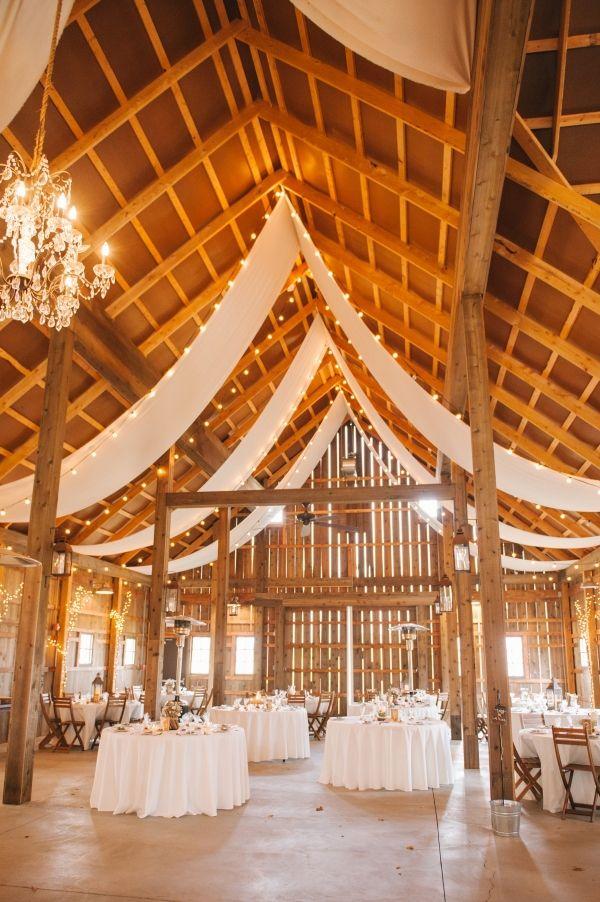 Romantic Draped Barn Wedding Reception | Amanda Adams Photography on @fabyoubliss via @aislesociety