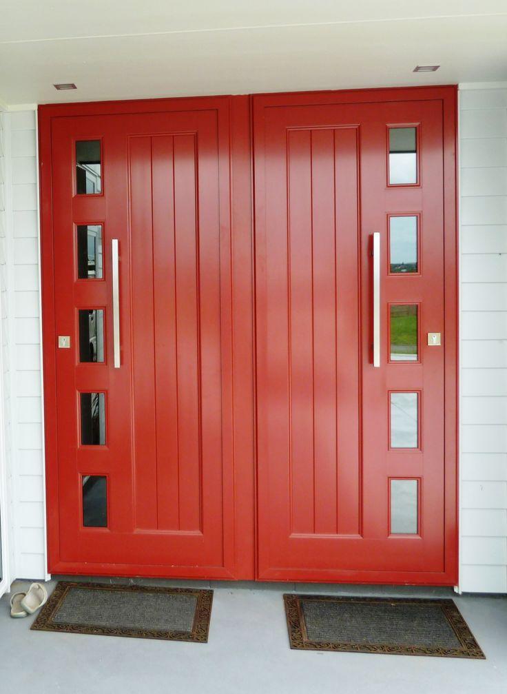 Add impact with red aluminium doors