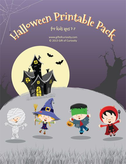 halloween printable pack for kids age 2 7 with 59 activities focused on skills such - Halloween Printable Crafts For Kids 2