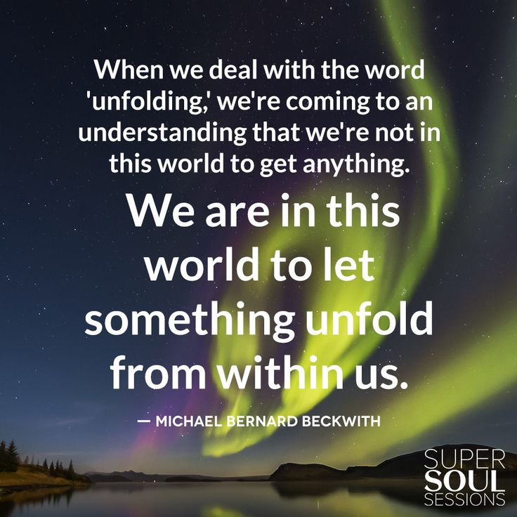 """Quote about Life Purpose - Michael Bernard Beckwith      """"When we deal with the word"""