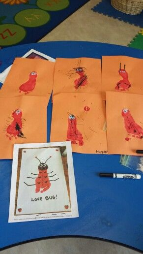 Love bugs!! The printout is the one from pinterest and the other are the kids!! Super cute idea!!