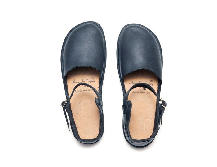 Made in USA    New Chinese in Navy by Aurora Shoe Co