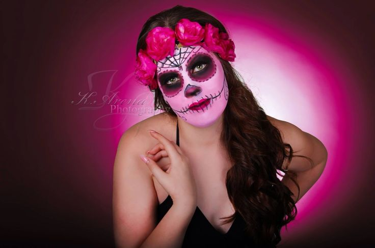 Day of the dead face paint fun