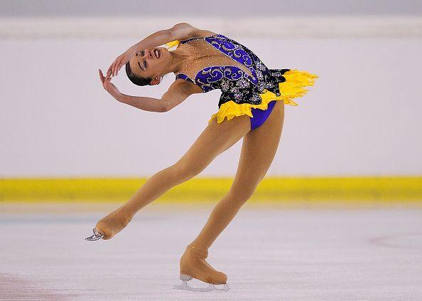 Kailani Craine of Australia performs during the junior ladies short program of the ISU Junior Grand Prix of Figure Skating Logrono on October 1 2015...