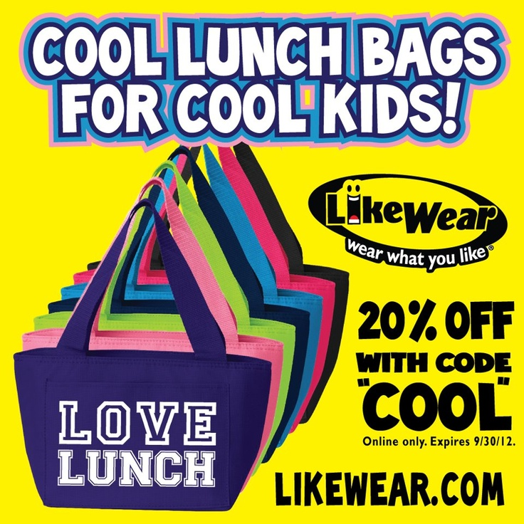 "Looking for something cool? How about 20% off any of our lunchbags online with the code ""cool""? Offer valid until 9/30/2012.: Back To Schools, Insulated Lunches Bags, 9 30 2012, Lunchbag Online, Insulated Lunch Bags, Online Only"
