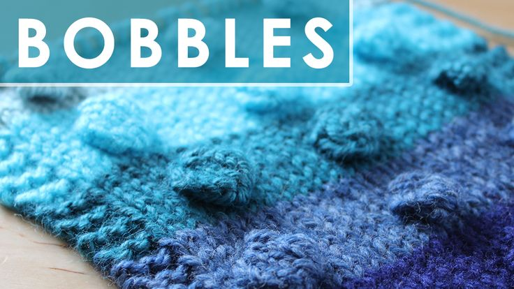 How to Knit the BOBBLE Stitch Pattern with Easy Free Knitting Pattern + Video Tutorial by Studio Knit