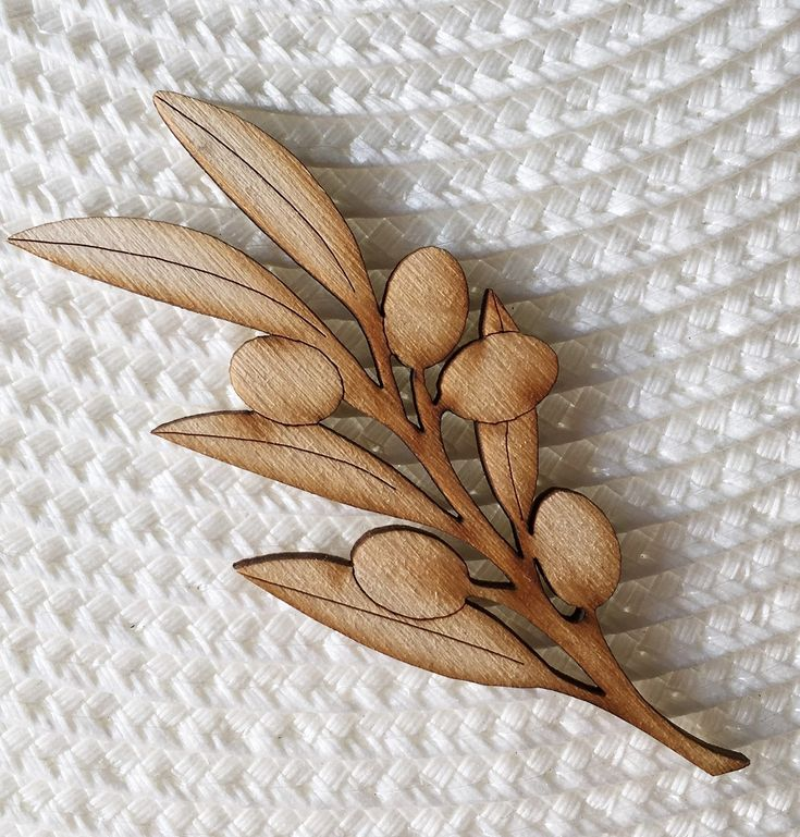 Olive Tree branch Wooden Decorative