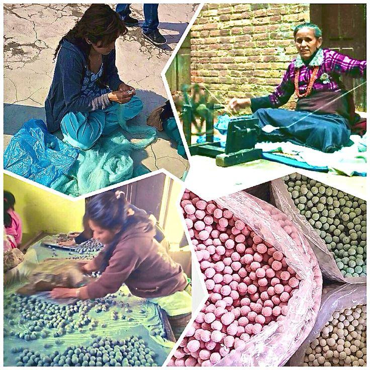 Our Nepal trip! http://www.feltballrug.com