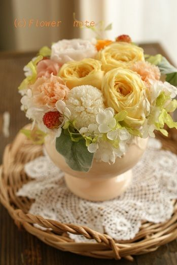 『シャーベット色のプリフラギフト』 http://ameblo.jp/flower-note/entry-11268350927.html