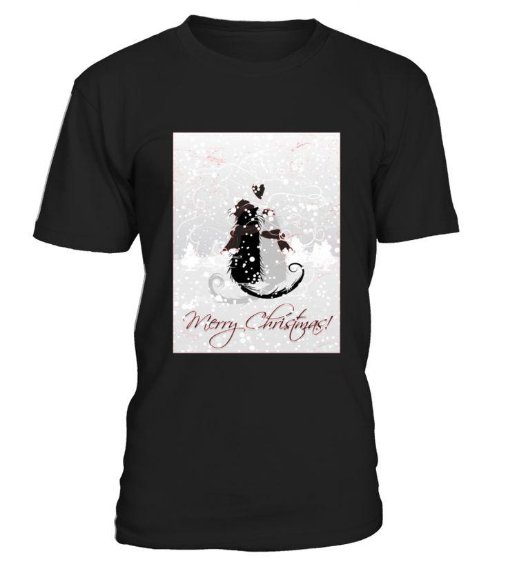 Christmas Snow Cats Snuggle   Merry Christmas T shirt  Funny Christmas T-shirt, Best Christmas T-shirt