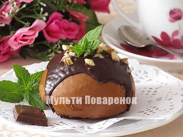 Медово-шоколадные пряники в мультиварке на пару