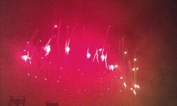 Fuochi d'artificio in Prato della Valle a ferragosto 2014 (7). #VivereArte #MichelaBusana