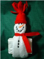 In the hoop snowman soap holder