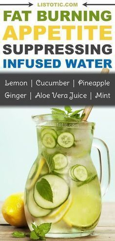 The ultimate fat burning detox drink recipe for weight loss! This infused water suppresses your appetite and tastes so refreshing! Hello flat tummy! Listotic #DetoxBodyCleanse
