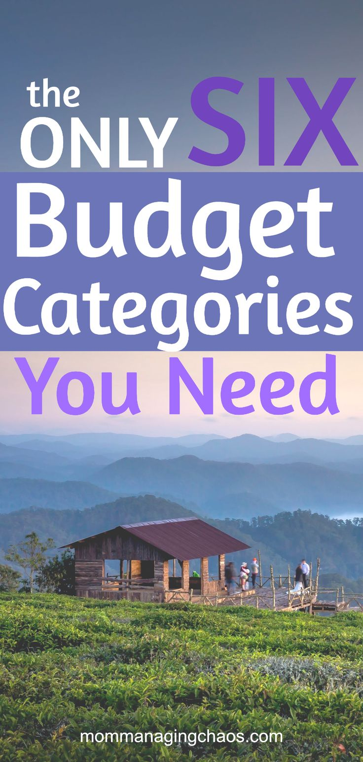 The 6 Budget Categories Budget