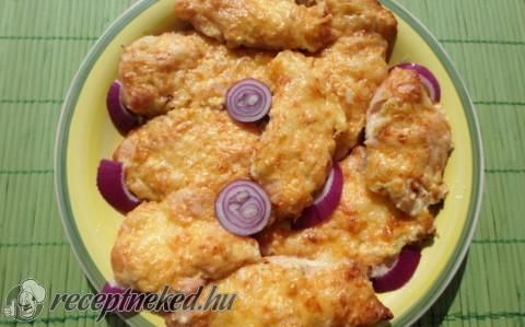 Csirkemell sonkás sajtmártással recept fotóval