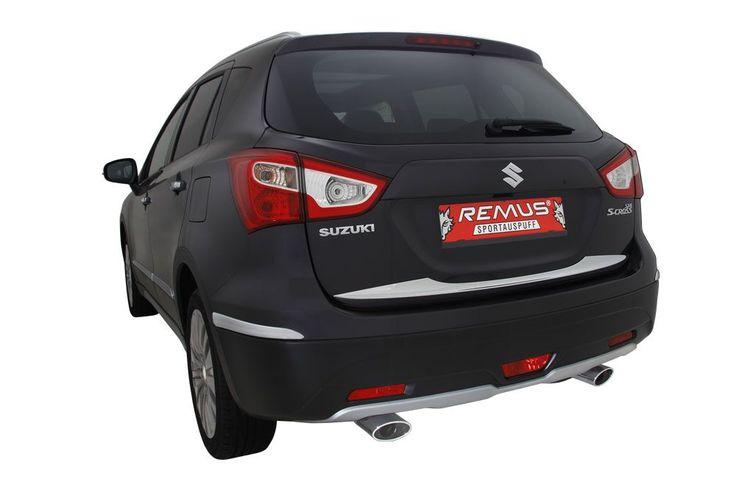 Sportowe tłumiki tylne wraz z polerowanymi końcówkami wydechu REMUS INNOVATION dla Suzuki SX4.  Nawet popularny, miejski SUV może brzmieć i wyglądać sportowo! Najwyższej jakości system, oprócz poprawy dźwięku i wyglądu zapewnia również odrobinę mocy - wszystko dzięki polepszeniu przepływu spalin.   Zapraszamy do Remus Polska! http://www.remus-polska.pl/