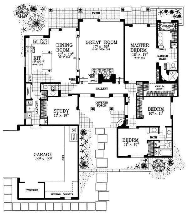 49 best Santa Fe House Plans images on Pinterest | Car garage, Carriage  house and Floor plans - 49 Best Santa Fe House Plans Images On Pinterest Car Garage