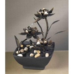 Cadono Metal Flower Tabletop Fountain i need to find one it will look cute in my room!