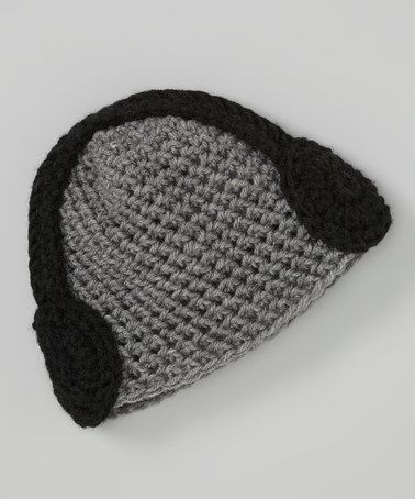 Take a look at this Gray & Black Crocheted Headphone Beanie by Cupc4ke on #zulily today!