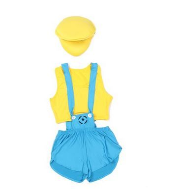 Minions are cute creatures! It makes them a perfect cute and sexy costume idea for the next Halloween or dress up party!  This sexy minion costume for women comes with:  A minion helmet / hat with goggle detail Some blue short bib overalls / blue suspender short shorts A yellow bandeau top   It is an easy and effective costume that will turn heads at the next party. A group of sexy minions also makes for a great group costume idea - especially if you can get one lucky guy to be Gru! One…
