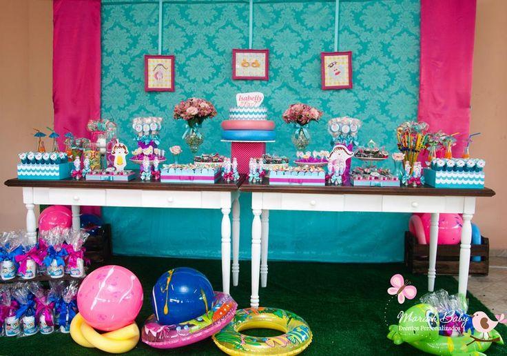 Pool Party   Festa na piscina   Decoração by Mariah festas #verao #festanapiscina #poolparty
