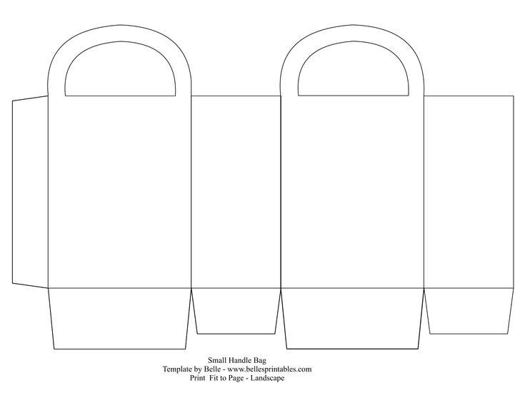 Paper Purse Favor Box Templates