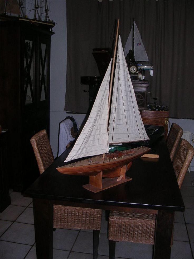 maquette voilier en bois fait main 80cm