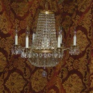 Vintage Cut Glass Chandelier