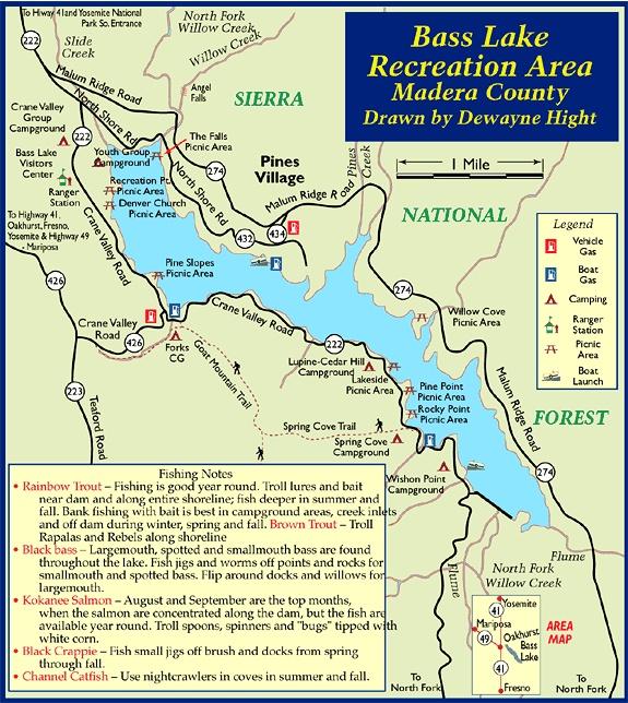 bass lake california map Bass Lake California Bass Lake Lake Vacation Niagara Falls bass lake california map