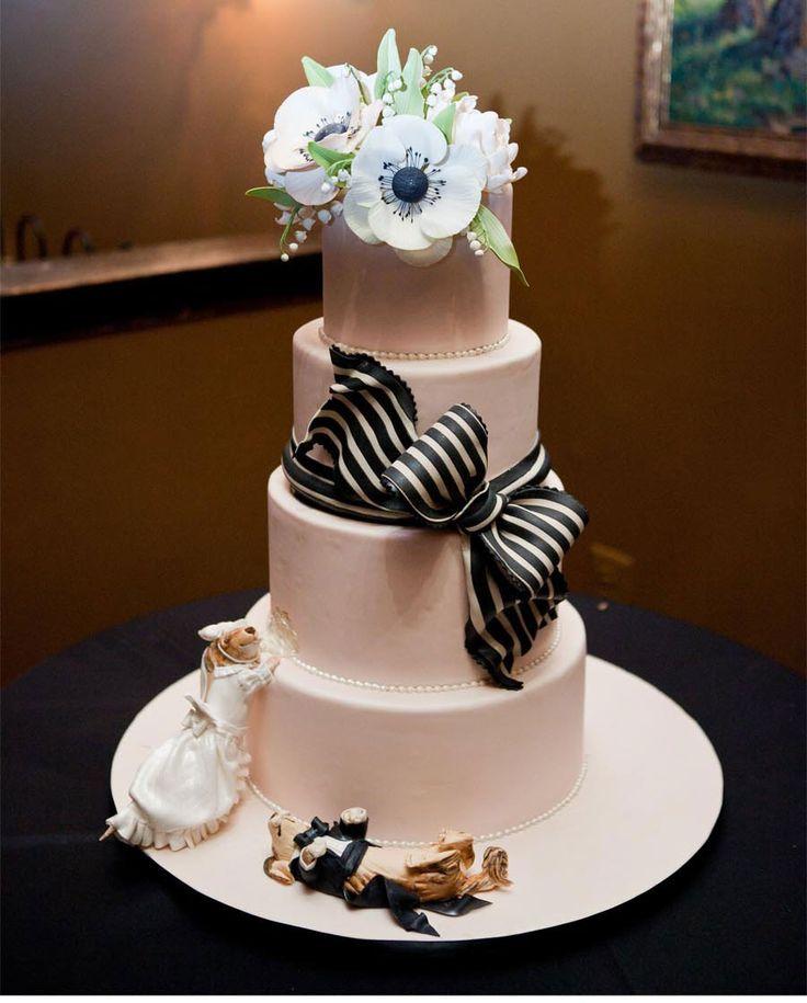 wedding cakes northern new jersey%0A Wedding cake for Jennifer and Jonathan u    s wedding by Pink Cake box