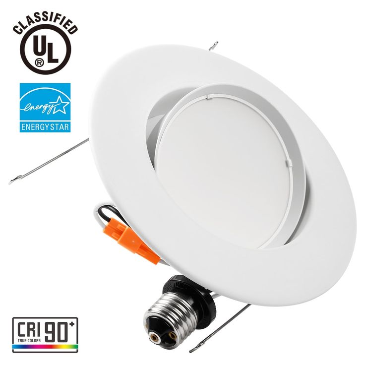 High CRI 10W 5/6inch Gimbal LED Recessed Light 75W Equiv (1 pack 2700k)