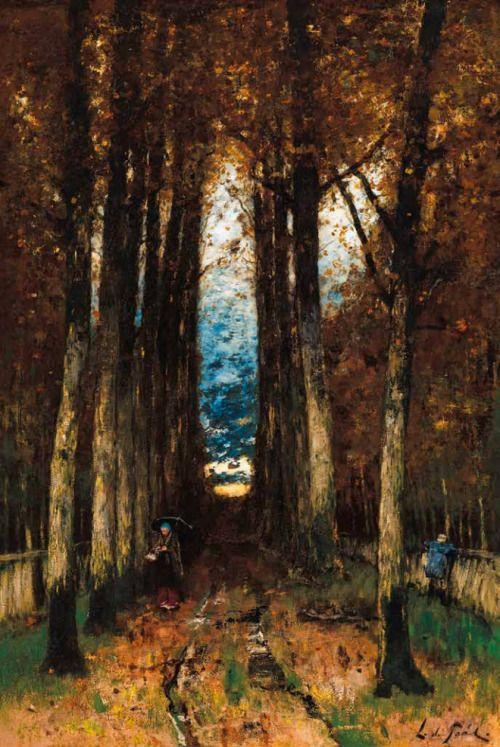 After Rain, Autumn Mood (Sun-Down), 1873, László Paál