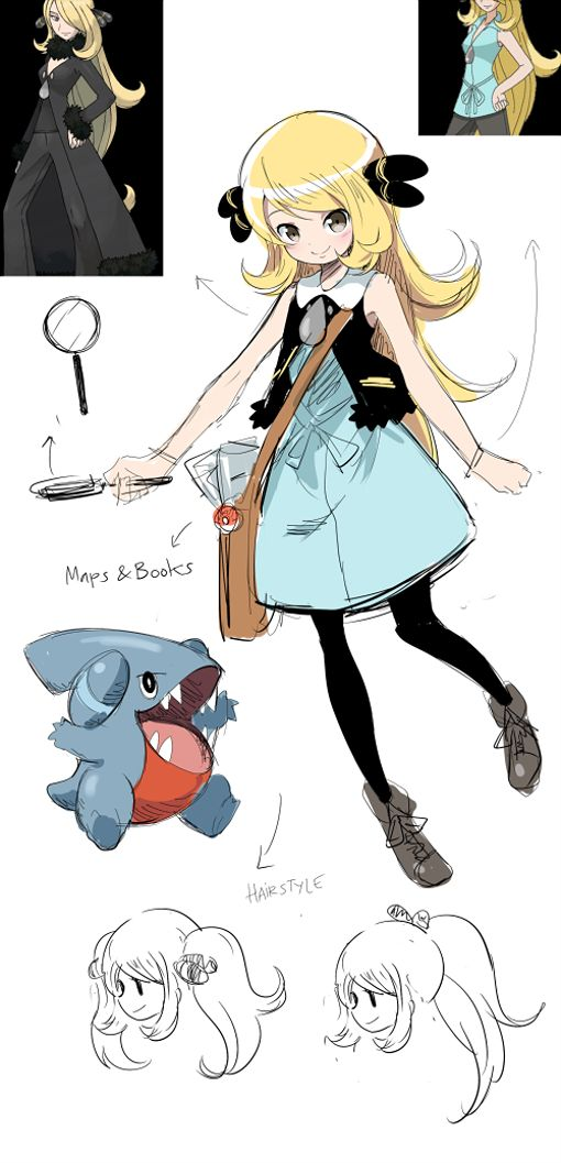 74 best images about Cynthia - the best pokemon lider on ...