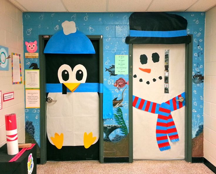 Art with Mrs. Nguyen: Holiday-decorated Classroom Doors!