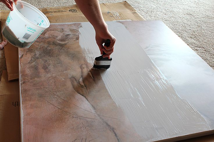 How to repaint over a piece of canvas art! I want to do this. I'm sure you can find a cheap canvas at a thrift store or a goodwill