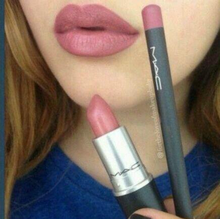 Mac Soar lip liner and Brave lipstick