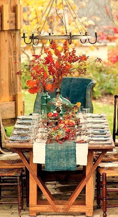fall tablescape...