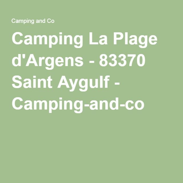 Camping La Plage d'Argens - 83370 Saint Aygulf - Camping-and-co