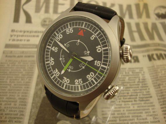 Poljot watch, Aviator watch, Alarm watch, military watch, mens watch, soviet watch, ussr watch, vintage watch, russian watch, retro watch