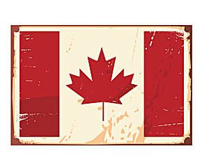 Alfombra vinílica bandera de Canadá