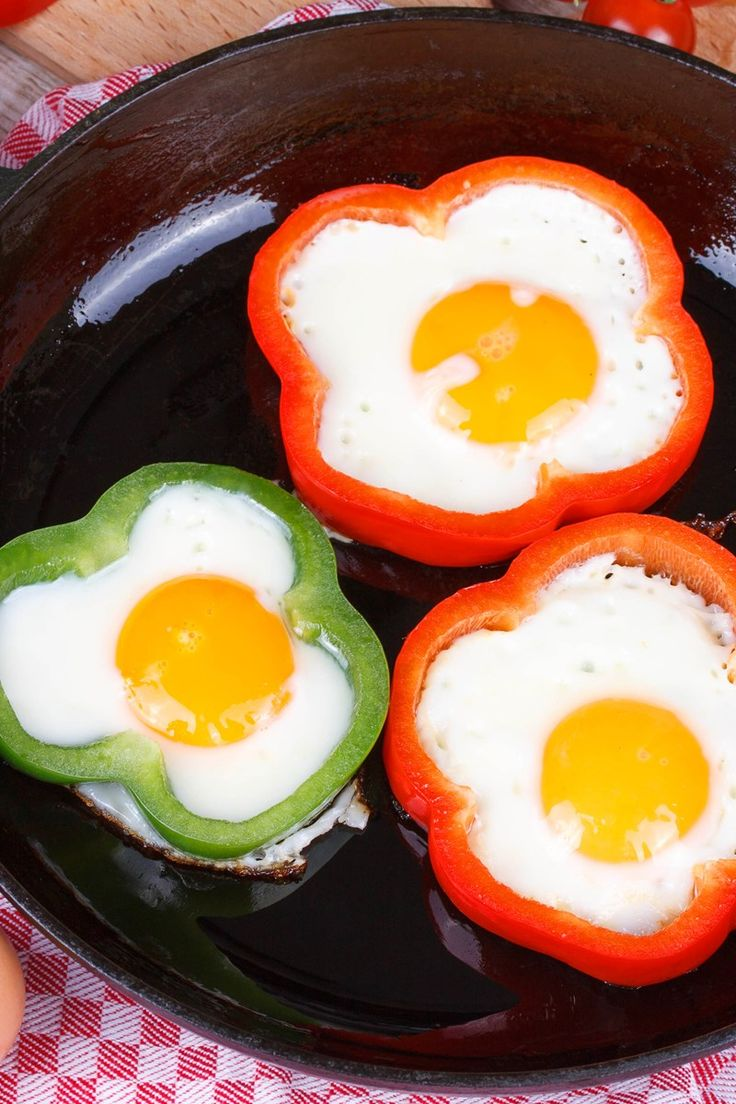Fried Eggs in Bell Pepper Rings Recipe