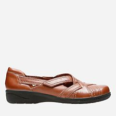 Cheyn Wale Dark Tan Leather - Women's New Arrivals  - Clarks® Shoes Official Site