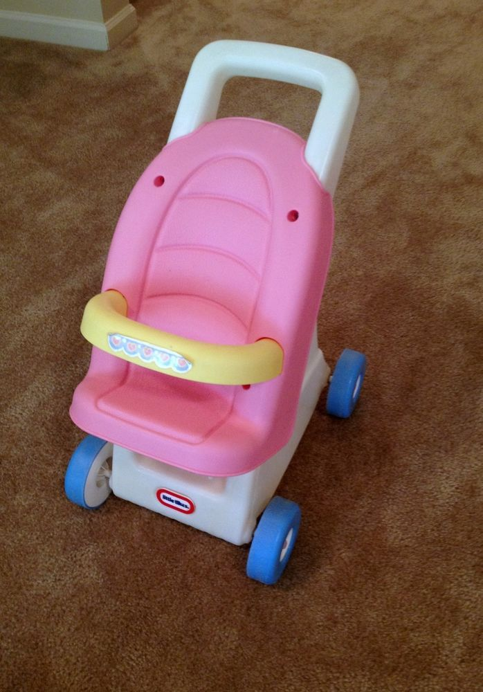 Little Tikes Baby Doll Stroller/Walker in Pink RARE and ...