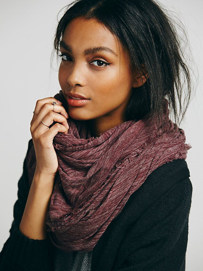 Free People Oversized Solid Fine Gauge Scarf at Free People Clothing Boutique